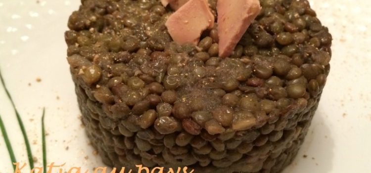 Pressé de lentilles au foie gras