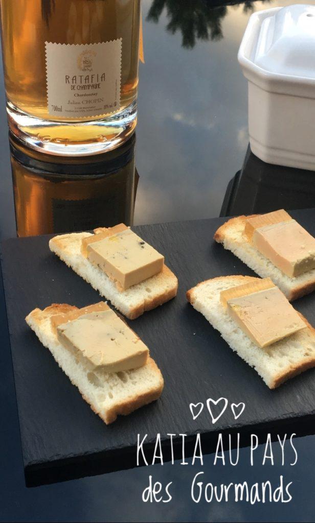 Terrine de foie gras et sa gelée au Ratafia de Champagne