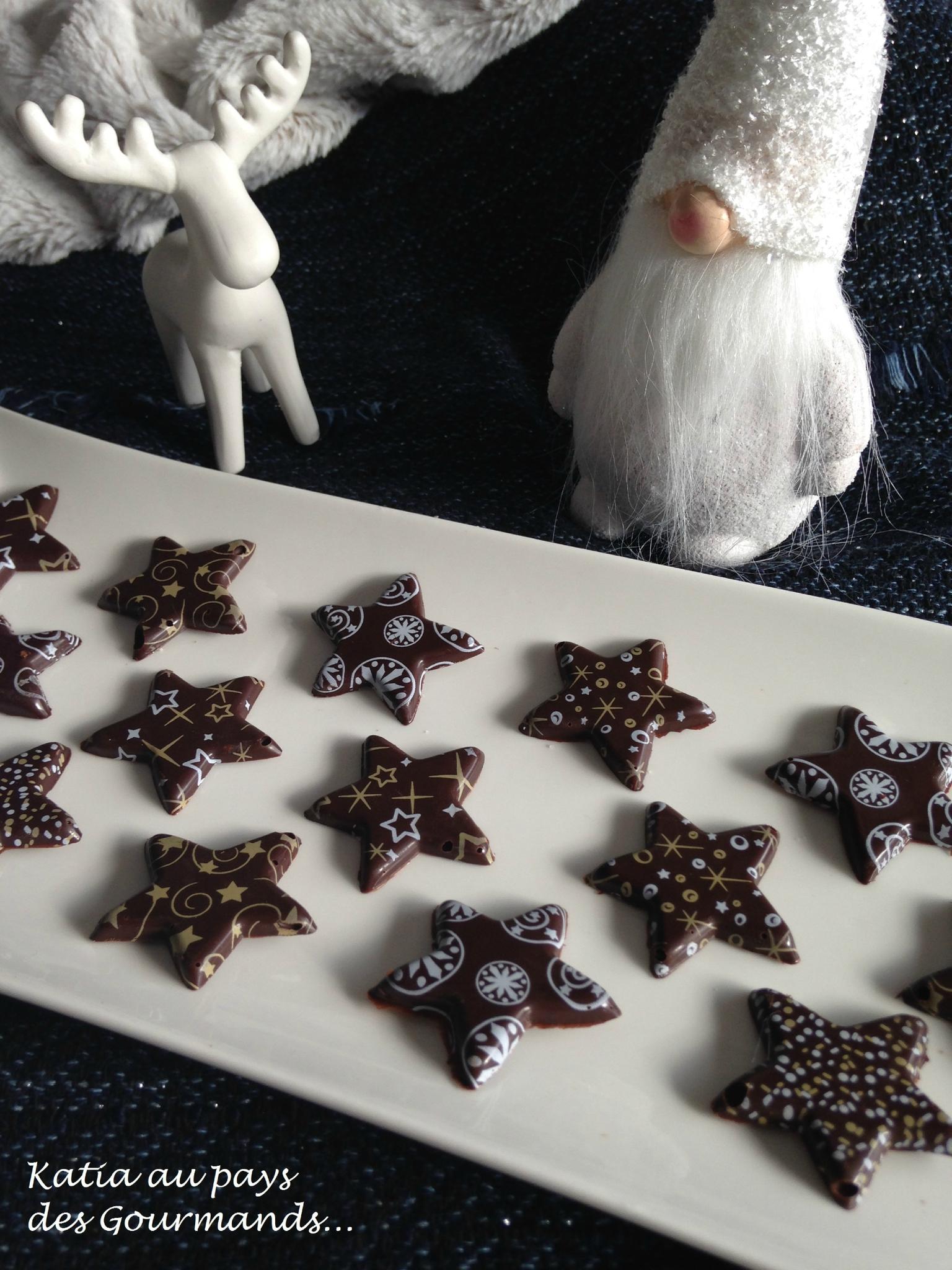 Chocolats imprimés maison