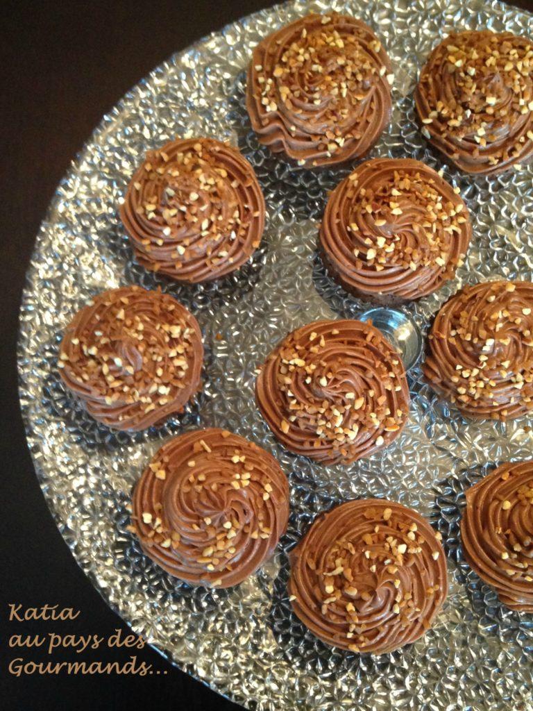 Cupcakes chocolat / crème au Nutella