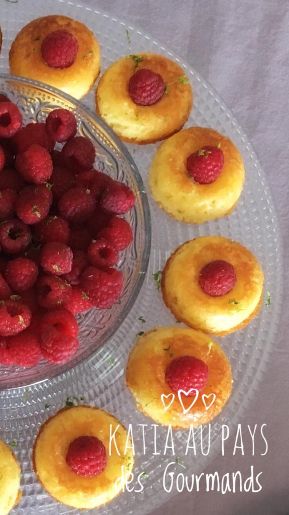 Mini gâteaux au citron / framboises