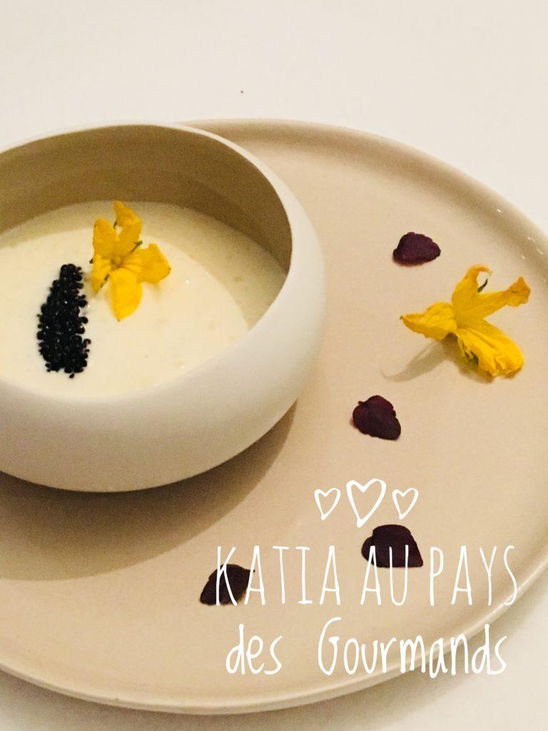 Espuma de St Nectaire et sa quenelle de caviar