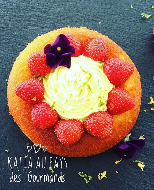 Gâteau fraicheur citron/fraises
