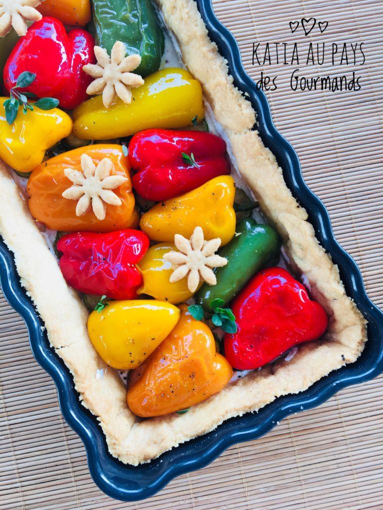 Tarte aux mini légumes : poivrons et courgettes