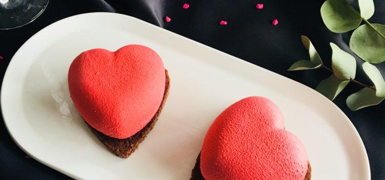 Cœur chocolat / framboise