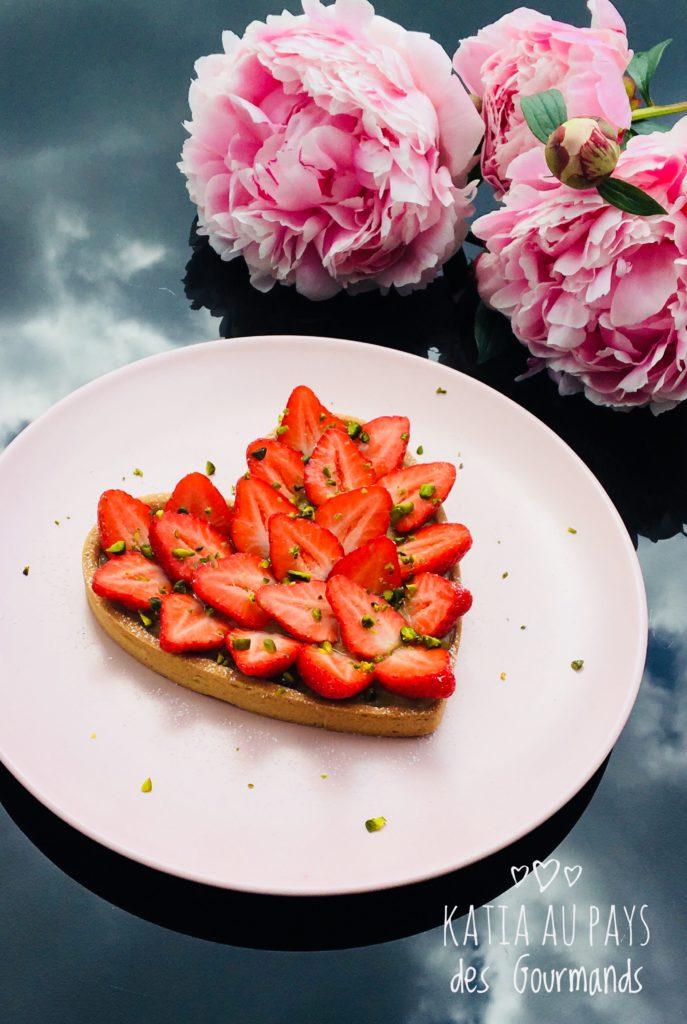 Tarte fraises/rhubarbe