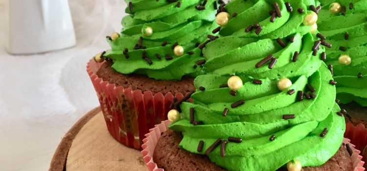 Cupcakes  de Noël au chocolat